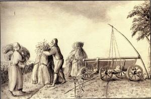 J. K. Broce. Zemnieki pļauj rudzus. 18. gs. beigas