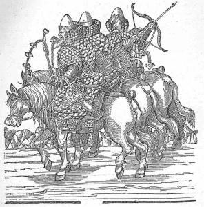 Maskaviešu karavīri. 16. gadsimta gravīra