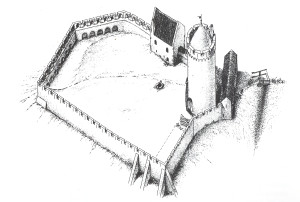 Turaidas pils 13. gadsimta beigās. G. Jansona rekonstrukcija