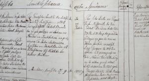 Strīķu muižas pagasta protokolu grāmatas fragments