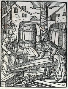 Mucinieks. Vācu mākslinieka Josta Ammana 1568. gada kokgriezums