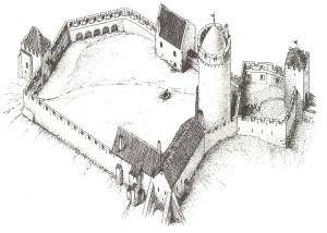Turaidas pils 14. gadsimta beigās. G. Jansona rekonstrukcija