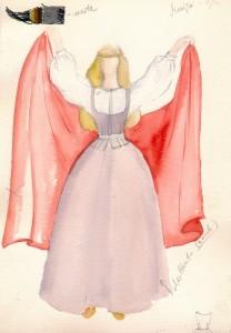 Skice Maijas tērpam. Mākslinieks Voldemārs Gudovskis, 1992. gads
