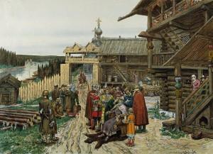 Krievu kņaza mītne 13. – 14. gadsimtā. A. Vasņecova glezna, 1908