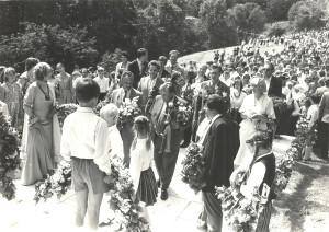 Dainu kalna atklāšana 1985. gada 7. jūlijā