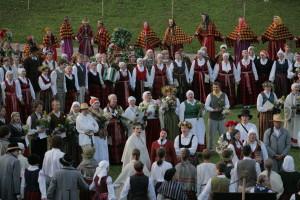 """Starptautiskais folkloras festivāls """"BALTICA 2009"""" Turaidā Dziesmu dārzā"""