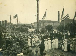 Latvijas Pagaidu valdības sagaidīšana Rīgā. 1919. gada 8. jūlijs