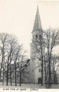 Siguldas baznīcas jaunais zvanu tornis. Ap 1934. gadu. Skats no ZR. Rīgas fotogrāfa Rob. Johansona foto