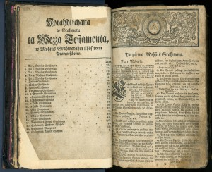 2)Bībele (1739)  TMR 21600