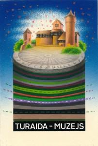 Mākslinieka Vitolda Kucina pastkarte, 1987