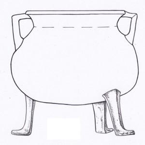 Trijkāju grāpis. Daigas Pjatkovskas zīmējums