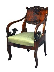 Bīdermeijera stila krēsls. 19. gadsimts