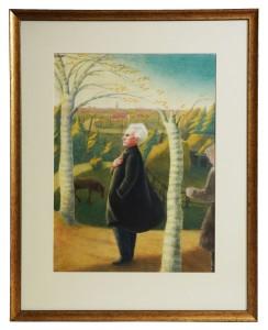 Hilda Vīka.Viktora Eglīša portrets. 20. gadsimta 40. gadi