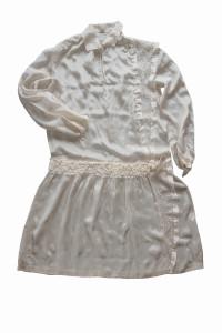 Zīda kleita. 20. gs. pirmā trešdaļa. TMR 14466