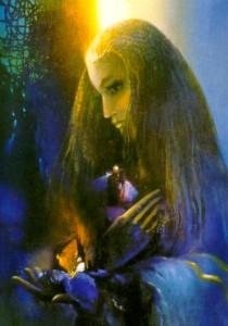 """Glezna """"Turaidas Roze"""", eļļa. Autore Aina Tobe. Gleznota izstādei Turaidas muzejrezervāta Rožu svētkos 1996. gadā"""
