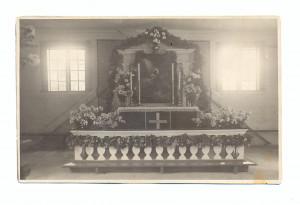 """Glezna """"Jēzus Ģetzemanes dārzā"""" 1926. gadā novietotas Turaidas baznīcas altārī. 1926"""