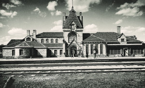 Picture. General view of the Railway Station Building in Sigulda. 1930s. Photographer Krišjānis Vīburs
