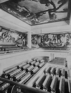 Tautu Savienības pils galvenā sēžu zāle Ženēvā. 1930. gadu beigas