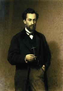 Ivans Kramskojs. Mākslinieka Mihaila Klodta fon Jirgensburga portrets