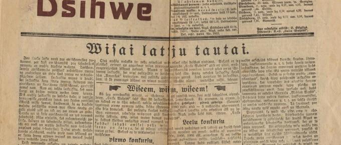 """Laikraksts-""""Siguldas-Dzīve""""-Nr.-1-1927.-gads.-SM-6414"""